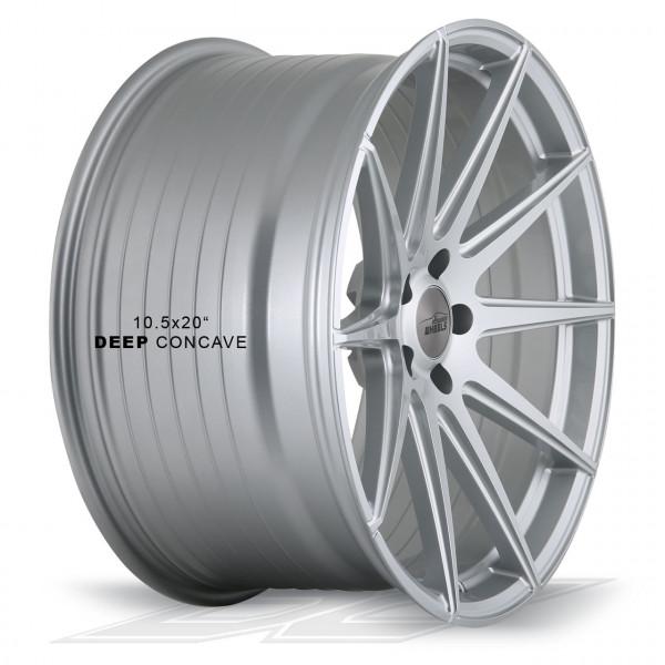 Elegance Wheels E1FF Hyper Silver | Concave + Deep Concave