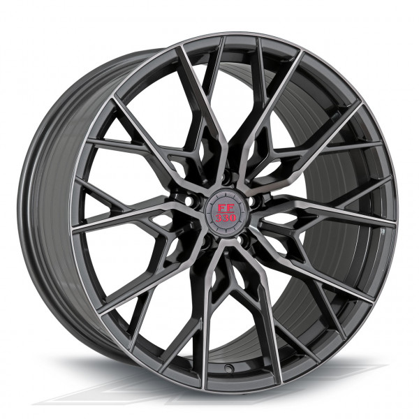 Elegance Wheels FF330 Glossy Gunmetal Polished | Concave + Deep Concave