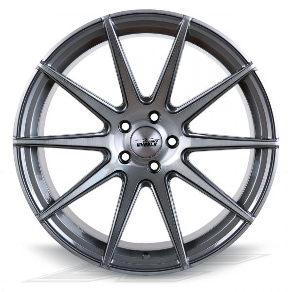 Elegance Wheels E1FF Titanium/Brushed | Concave + Deep Concave